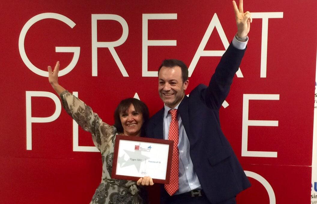 "Vygon España, ""Premio Empresa Flexible 2014″ y  empresa ""Best Place to Work 2014"""