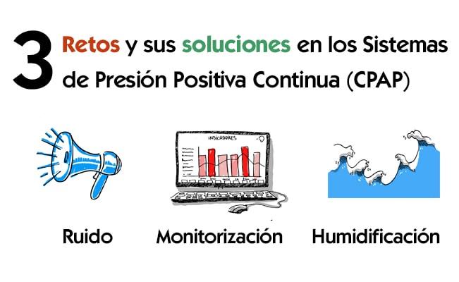 retos y soluciones en los sistemas de Presión Positiva Continua (CPAP)