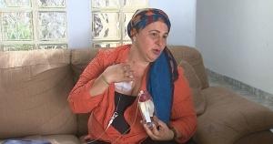 Mujer tratándose con quimioterapia