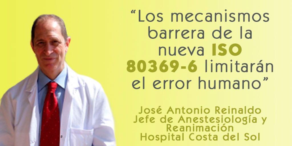 """El doctor Reinaldo sobre la ISO 80369-6: """"Estos mecanismos barrera limitarán el error humano"""""""