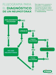 Imagen 4: Algoritmo de diagnóstico de neumotórax. Volpicelli G. 2011.