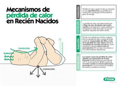 Mecanismos de pérdida de calor en Recién Nacidos